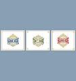 vintage luxury logo template design for label vector image vector image