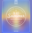 vintage poster summer sunset retro label vector image