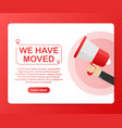 we have moved moving office sign clipart image vector image vector image