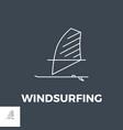 windsurfing icon vector image