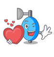 with heart ambu bag mascot cartoon vector image