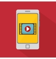 smartphone video player media vector image