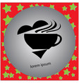 coffee cup with stram made from heart shape sign vector image