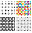 100 financial backing icons set variant vector image vector image