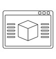 3d model icon outline
