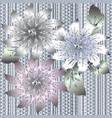 3d vintage floral seamless pattern ornate vector image