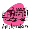Amsterdam the capital of Holland vector image vector image