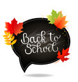 autumn poster with school board and white vector image vector image