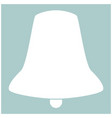 bell the white color icon vector image vector image