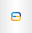 blue orange letter s logo symbol design logotype vector image