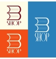 Book shop logo design vector image vector image