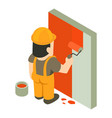 builder painter icon isometric 3d style vector image vector image