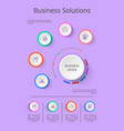 business solution presentation with icons vector image vector image