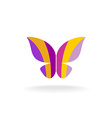 Butterfly colorful logo vector image vector image