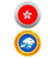 button as a symbol HONG KONG vector image