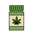 cannabis therapy medical and healthcare vector image vector image