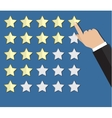 cartoon hand gives a five star arating vector image vector image