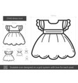 child dress line icon vector image vector image