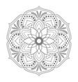 circular pattern mandala vector image vector image