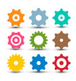 cogs - gears set og icon gear symbol isolated vector image vector image