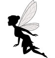 cute fairy flying vector image vector image