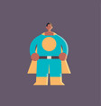 cute guy wearing super hero costume african vector image vector image