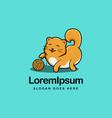 cute kitten cat logo icon vector image