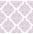 damask floral seamless pattern vintage vector image vector image