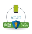 Data Security design Protect icon Data center vector image vector image