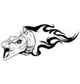dinosaurus stegosaurus head art vector image vector image