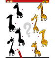 educational shadows task for kids vector image vector image