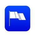 flag icon digital blue vector image vector image
