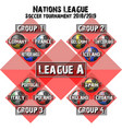 football nations league groups vector image