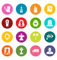 funeral ritual service icons set colorful circles vector image vector image