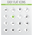 Gardening tools collection icons set vector image vector image
