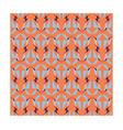 geometric bird on orange background vector image vector image