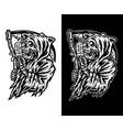 grim reaper eating ice cream vector image vector image