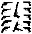 Guns set vector
