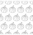 Hand Drawn Ink Halloween Seamless Pattern vector image vector image