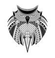 hand drawn owl tattoo vector image vector image