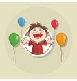 Happy birthday and kid design vector image vector image