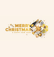 holiday new year greeting card - merry christmas vector image vector image