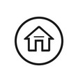 home icon on a white background vector image vector image