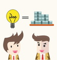 idea change for money concept vector image vector image