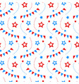 independence day of america festive pattern vector image vector image