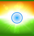 independence day of india background in colors of vector image