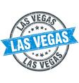 Las Vegas blue round grunge vintage ribbon stamp vector image vector image
