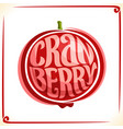 logo for cranberry vector image vector image
