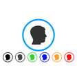 man profile rounded icon vector image