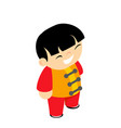 martial arts silk wear costume traditional kid vector image